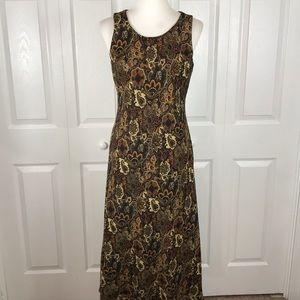 Studio I Size 10 Brown Paisley Long Dress Flowy